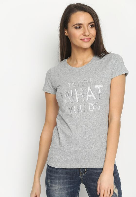 Szary T-shirt Say What?