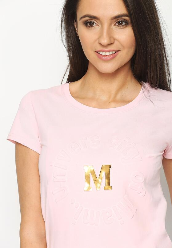Różowy T-shirt Madam Lady Chic
