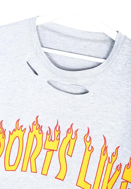 Szary T-shirt In The Fire
