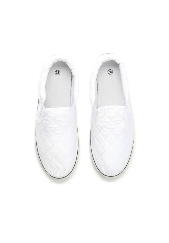 Białe Slip On Offspring