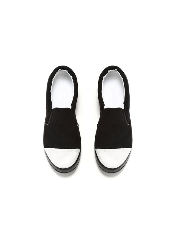Czarne Slip On Walk on Paris
