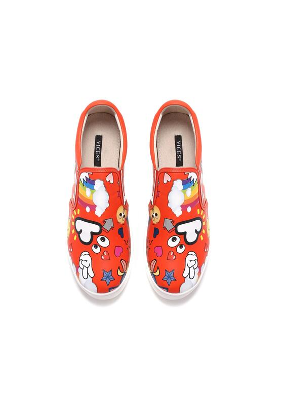 Czerwone Slip On Love Yourself