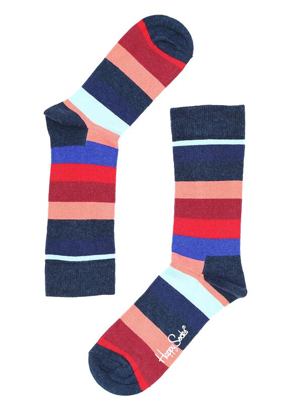 Granatowe Skarpetki Stripe Happy Socks