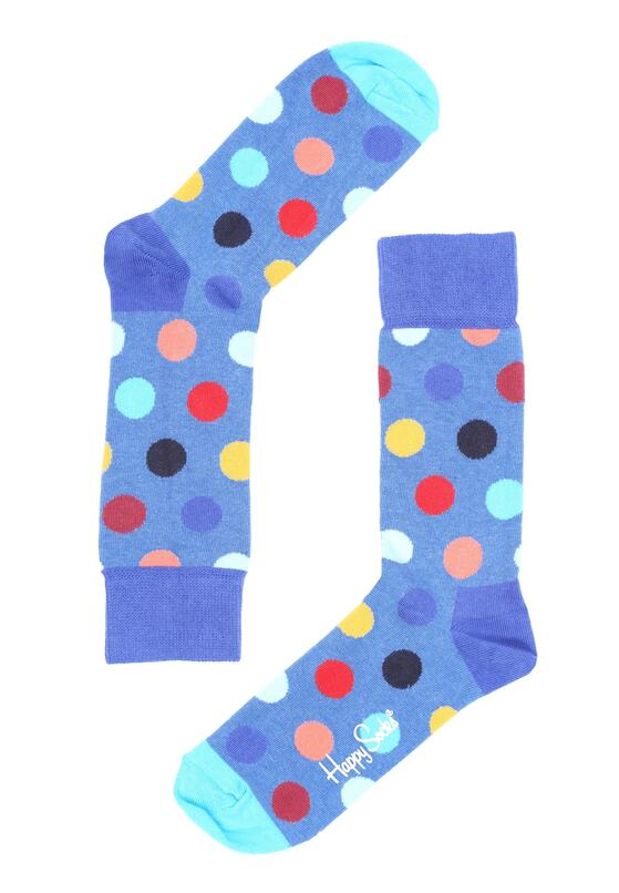 Niebieskie Skarpetki Big Dot Happy Socks