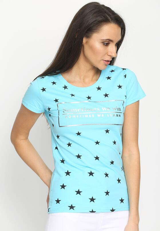 Jasnoniebieski T-shirt Real Star