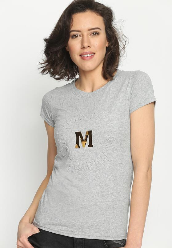 Szary T-shirt Madam Lady Chic