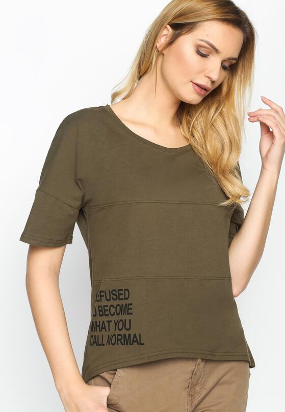 Khaki T-shirt Refused