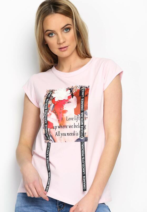 Różowy T-shirt Pop Art