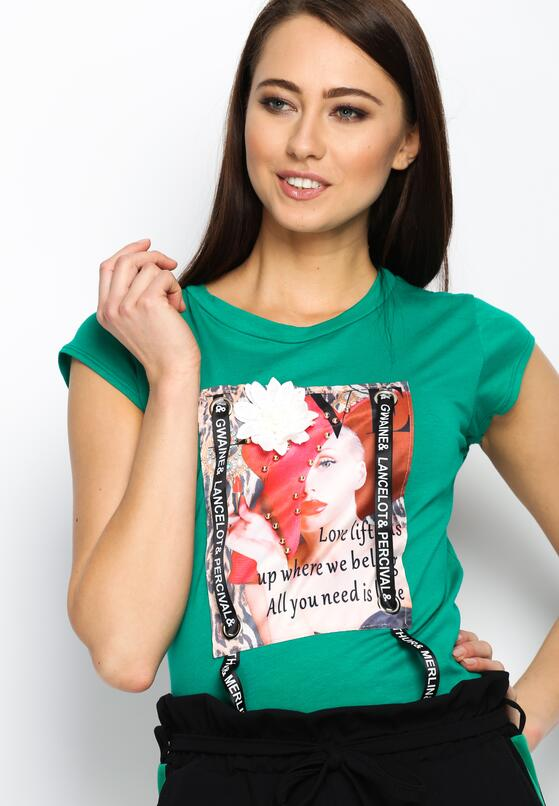 Zielony T-shirt Pop Art