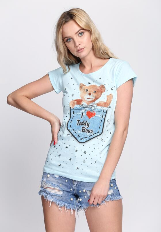 Niebieski T-shirt Teddy Bear