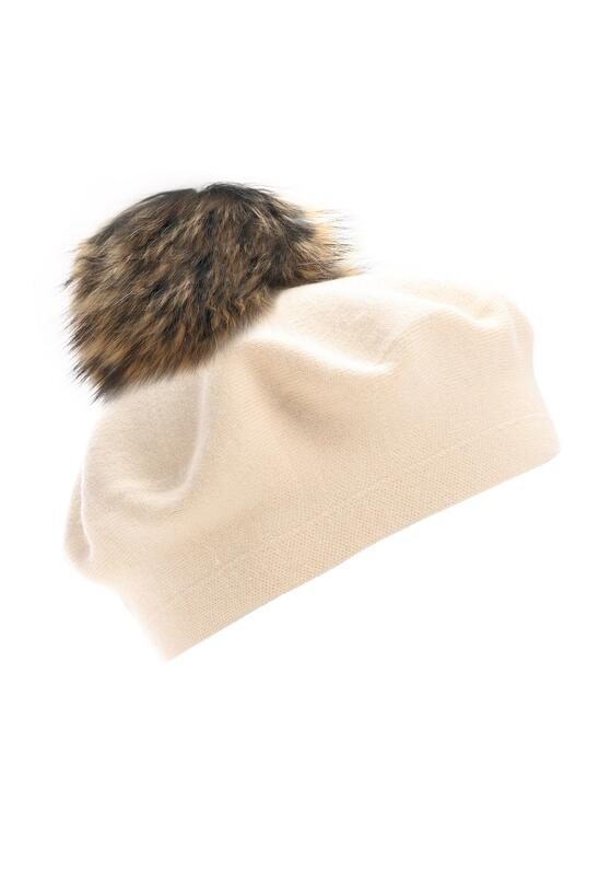 Beżowy Beret Special Efects