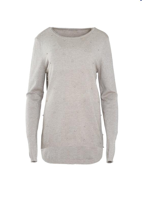 Beżowy Sweter Fast Drive