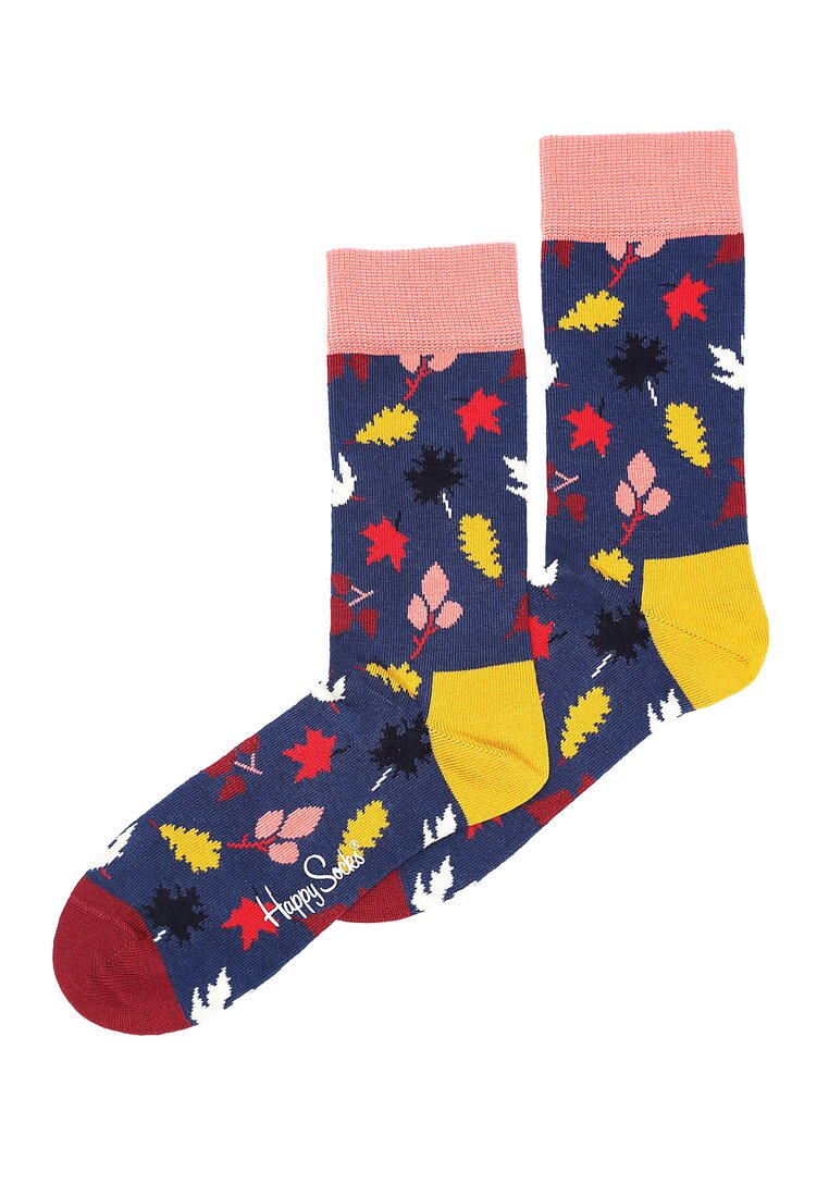 Granatowe Skarpetki Fall Happy Socks