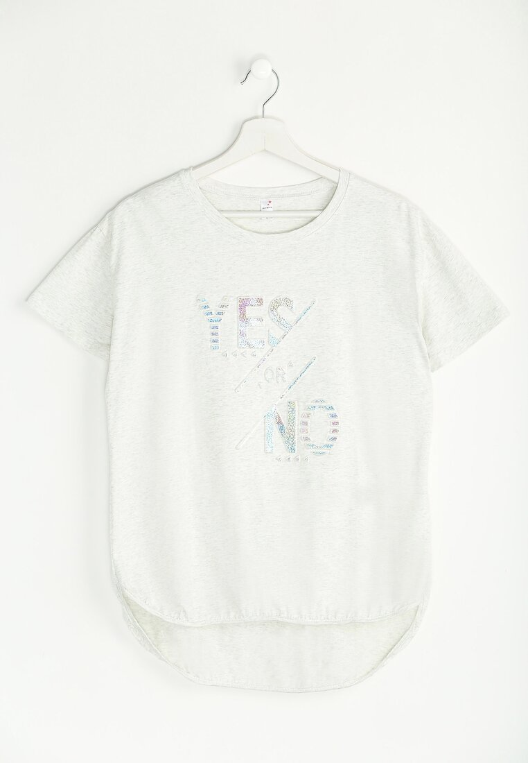 Jasnoszary T-shirt Yes or No