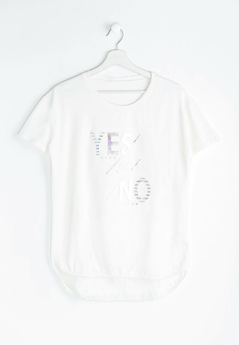 Biały T-shirt Yes or No
