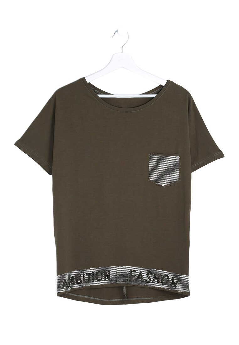 Zielony T-shirt Fashion