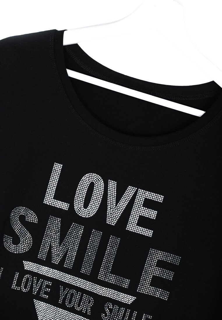 Czarny T-shirt Love Smile